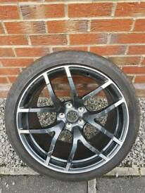 Nissan 370Z Nismo Rear Alloy Wheel Bridgestone Tyre Genuine