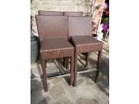 4 ratan bar stools