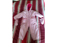 Avenue Baby collection pink baby girl snow suit 18-24 months RRP £34.00