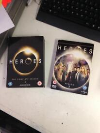 Heroes Series 1 and 2 American TV show DVD film Complete Boxset