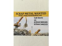SCRAP METAL WANTED. PAY ONLY CASH ££££££ best priece