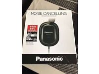 Panasonic Noise Cancelling Over-Ear Headphones for iPod, iPhone, MP3 and Smartphone - Black