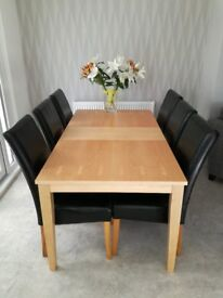 Extendable Dining Table & 6 Chairs*