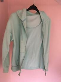 Matching sports hoodie and top, size 12