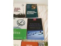Student textbooks for Degree course in Politics and International Relations