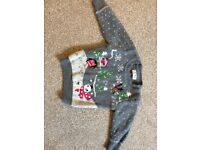 Girls Christmas jumper- age 6-9 months