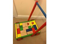 Wooden Walker with Wooden Blocks