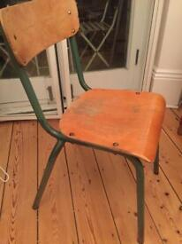 2 beautiful vintage stylish French school chairs