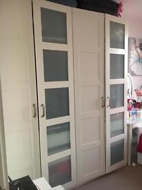 Ikea double door wardrobe white