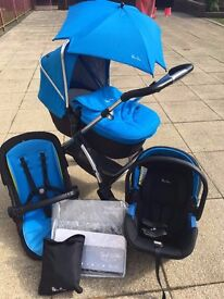 Silver Cross Wayfarer Pram/Pushchair combination, Car Seat and extras **BARGAIN** silvercross