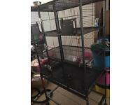 Chinchilla/rat/ small animal cage with stand hardly used