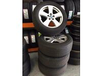 BMW 18inch X1 X3 X5 X6 ALLOY WHEELS WITH TYRES!