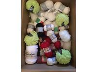 Job lot wool yarn knitting crochet crafts 50 balls