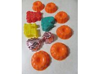 Assortment of jelly moulds 11 in total