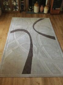 Beige Wool Rug Measurements 110in/280cm x 71in/180cm
