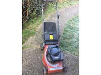 Laser mountfield petrol lawnmower