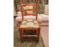 4 x farmhouse pine dining chairs