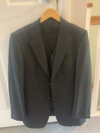 Men's 3 piece black suit