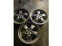 18inch Bmw Alloys wheels x3 job lot 5x120