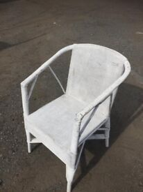 Vintage 1920s bamboo and loom chair