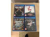 PS4 games!!