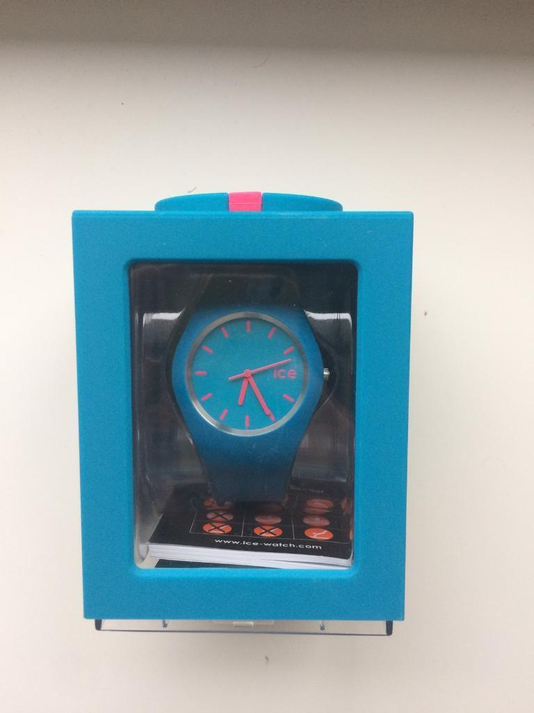Ice watchin Stratford upon Avon, WarwickshireGumtree - Turquoise blue ice watch with pink face detail. Never been worn. Original box and information book included