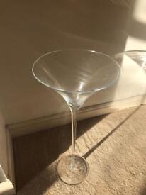 4 x large martini glasses