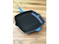 Genuine le creuset grillit griddle pan as new can deliver locally