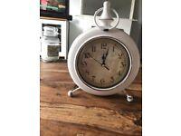 White vintage style clock