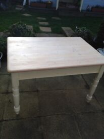 Refurbished solid pine table