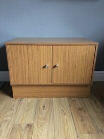 Oak Veneer Multi-Use Cabinet