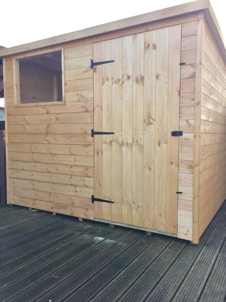 Wooden garages in nottinghamshire - Brand New Wooden Timber Garden Sheds 8 X 6 450 00 Made To Measure Sheds