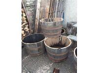 Half oak whisky barrel's