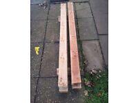 Hardwood Posts x 3