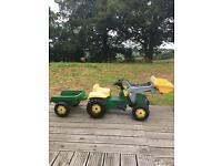 Kids tractor & Trailer
