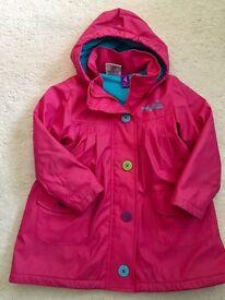 Girl coat, rain coat size 4 years (104cm)