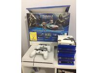 SONY PLAYSTATION 4 GLACIER WHITE 500MB WITH BOX PLUS 14 GAMES