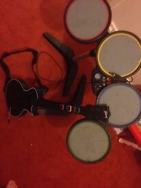 Xbox 360 guitar drums