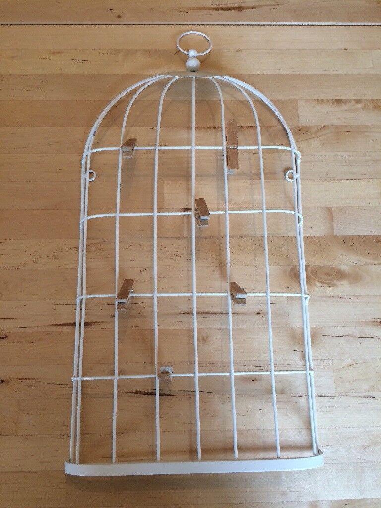 Vintage look bird cage photo frame