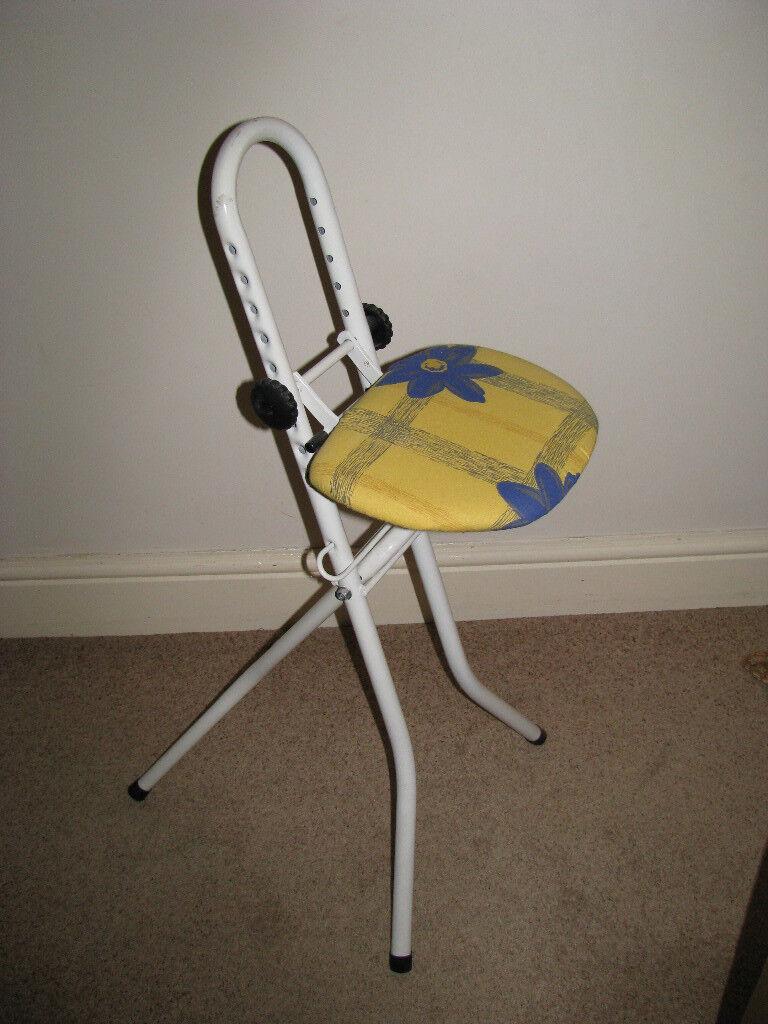 Ironing/perching stool