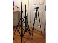 PhotoSEL – Heavy Duty Background Support System with Pure White Background & Tripods