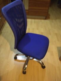 HOME Reade Mesh Gas Lift Adjustable Office Chair - Blue