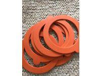 Kilner Jar replacement seals 8.5cm outer diameter