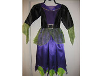 ITS NEARLY HALLOWEEN - GET READY WITH A FABULOUS WITCH COSTUME (DRESS) age 7-8 - BEAUTIFUL - lined