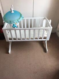 Crib and mobile
