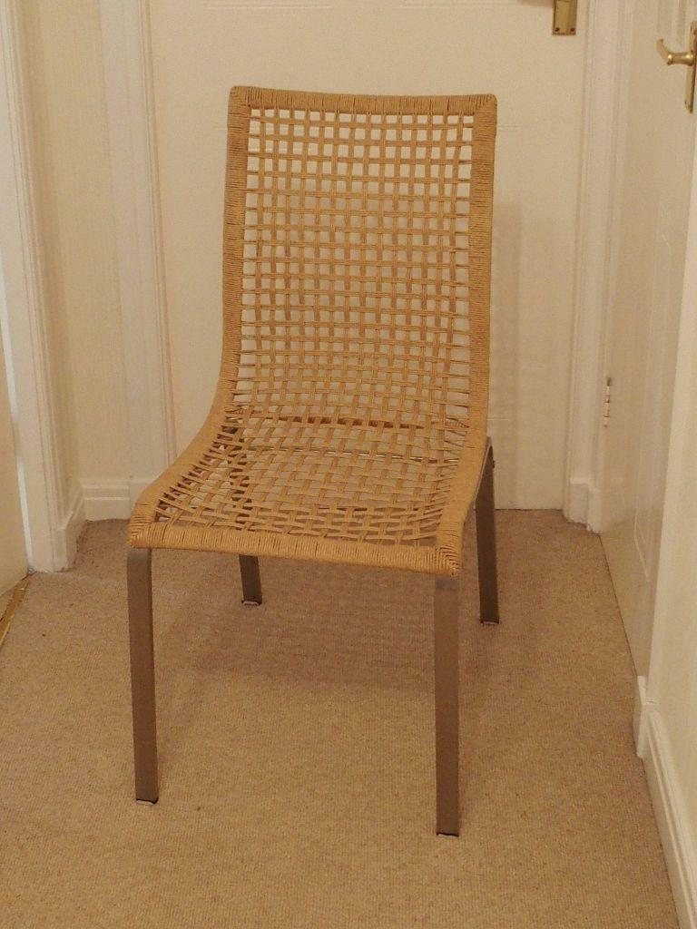 2 Wicker Chairs For Kitchen Or Dining Room In Paisley
