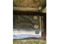 Very Duck egg blue chenille eyelet curtains