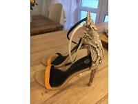 River island snakeskin heels size 6 39