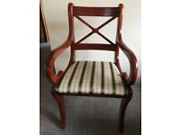 6 DINING CHAIRS. INCLUDES 2 CARVERS.
