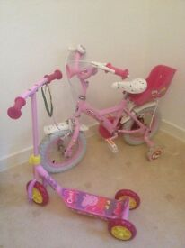 Girls bike and scooter free